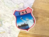 【ネコポスOK】 旅屋オリジナル Country Sticker USA/アメリカ