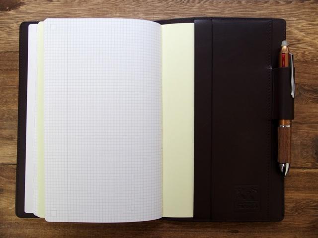 画像4: 【受注生産品】【ネコポスNG】 ジブン手帳専用カバー 旅屋オリジナル type H