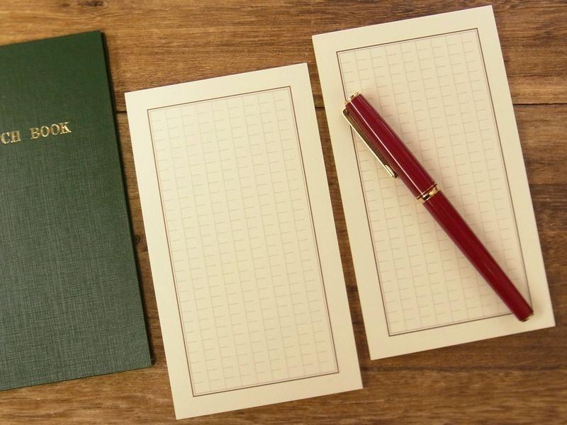 画像1: 【ネコポスOK】 旅屋萬年筆紙 一筆箋 S