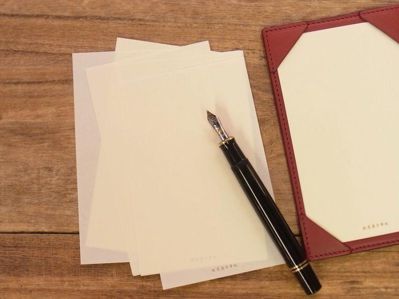 画像1: 【ネコポスOK】 旅屋萬年筆紙 JOTTER PAPER 125×75 100枚入り