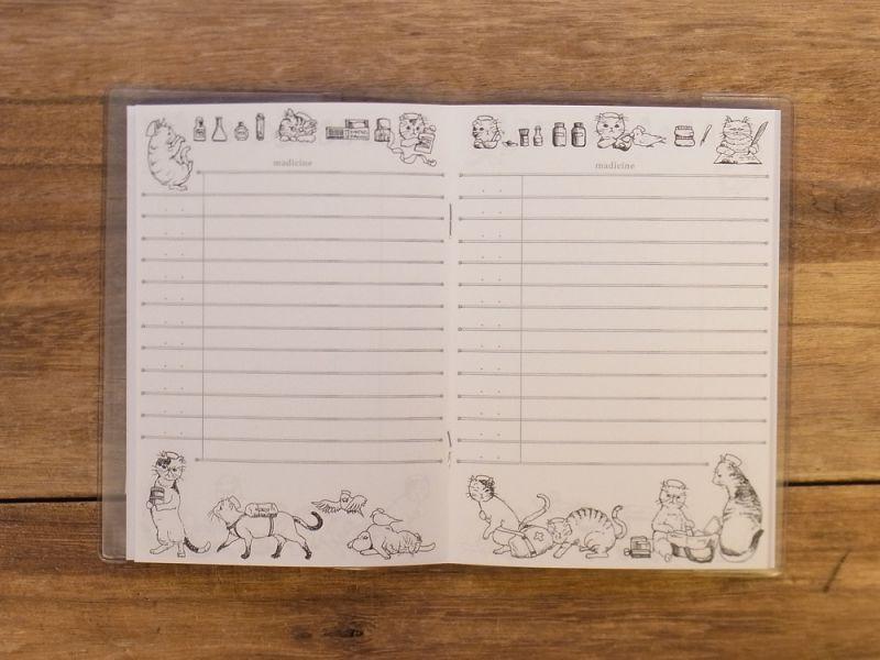 画像3: 【ネコポスOK】 生みたて卵屋 お薬手帳 猫