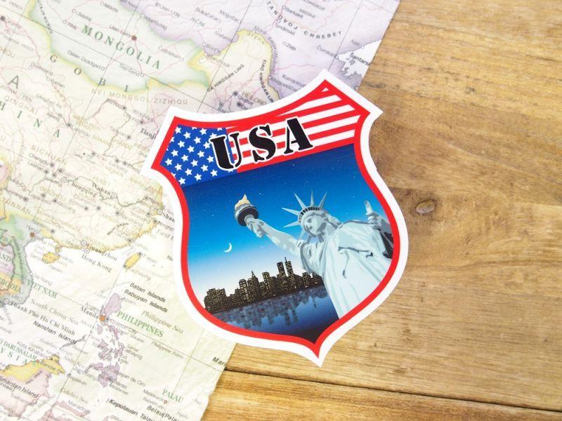 画像1: 【ネコポスOK】 旅屋オリジナル Country Sticker USA/アメリカ