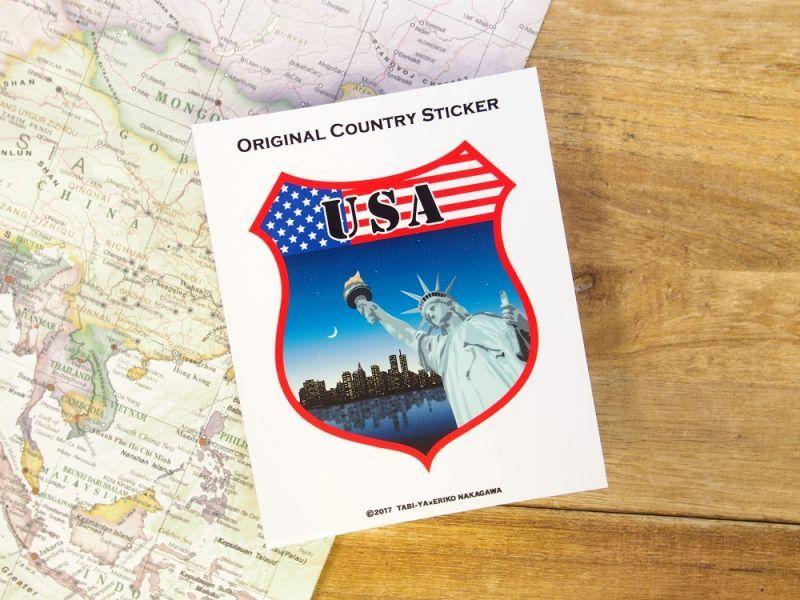 画像2: 【ネコポスOK】 旅屋オリジナル Country Sticker USA/アメリカ