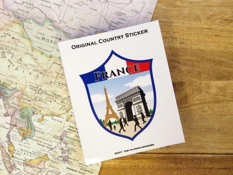 画像2: 【ネコポスOK】 旅屋オリジナル Country Sticker France/フランス
