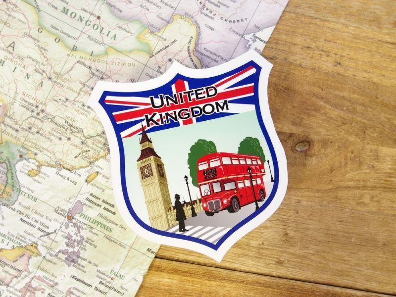 画像1: 【ネコポスOK】 旅屋オリジナル Country Sticker United Kingdom/イギリス