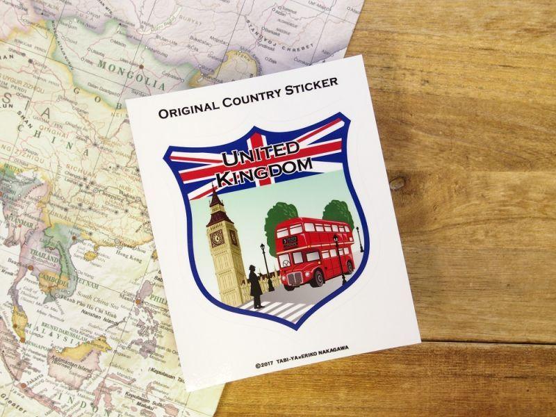 画像2: 【ネコポスOK】 旅屋オリジナル Country Sticker United Kingdom/イギリス