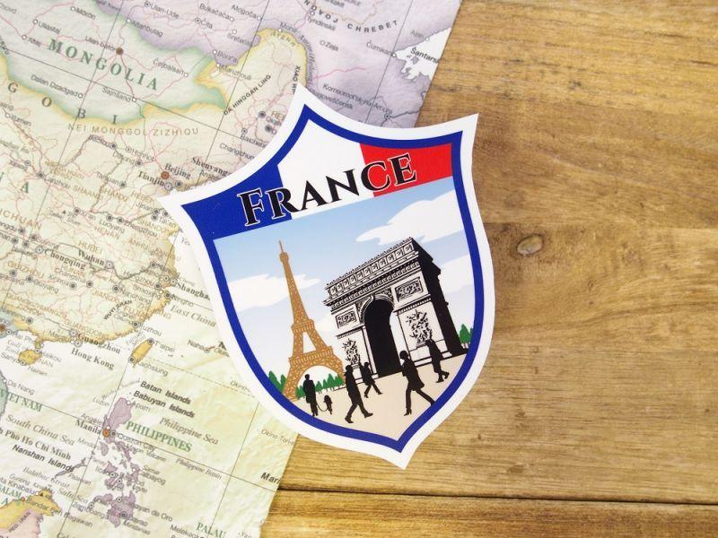 画像1: 【ネコポスOK】 旅屋オリジナル Country Sticker France/フランス