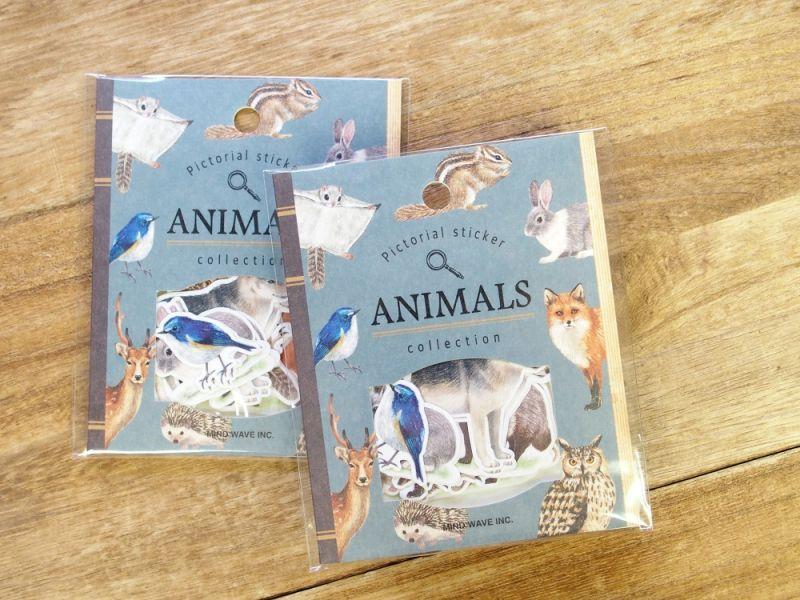 画像2: 【ネコポスOK】 Pictorial sticker/ピクトリアルステッカー 森の動物