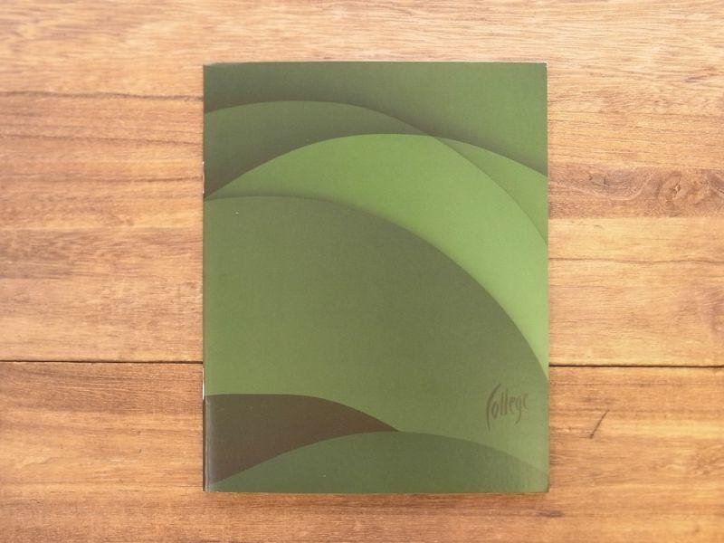画像1: 【買付け品】【ネコポスOK】 エストニア College ノート グリーン