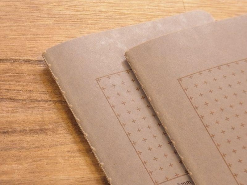 画像2: 【ネコポスOK】 RO-BIKI NOTE/蝋引きノート 十字