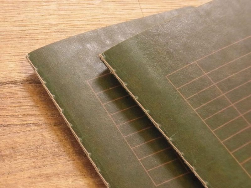 画像2: 【ネコポスOK】 RO-BIKI NOTE/蝋引きノート 6mm罫線