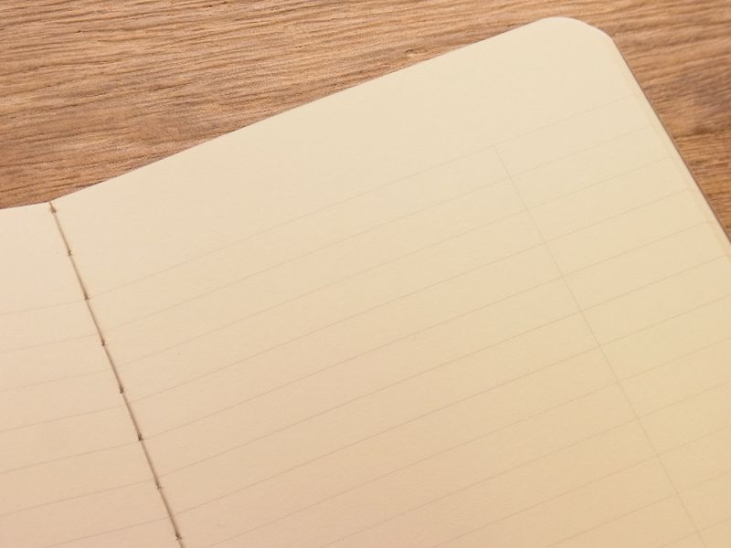 画像4: 【ネコポスOK】 RO-BIKI NOTE/蝋引きノート 6mm罫線