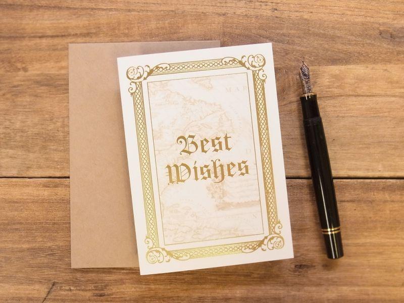 画像1: 【ネコポスOK】 旅屋オリジナル グリーティングカード Best Wishes/ご多幸を祈ります