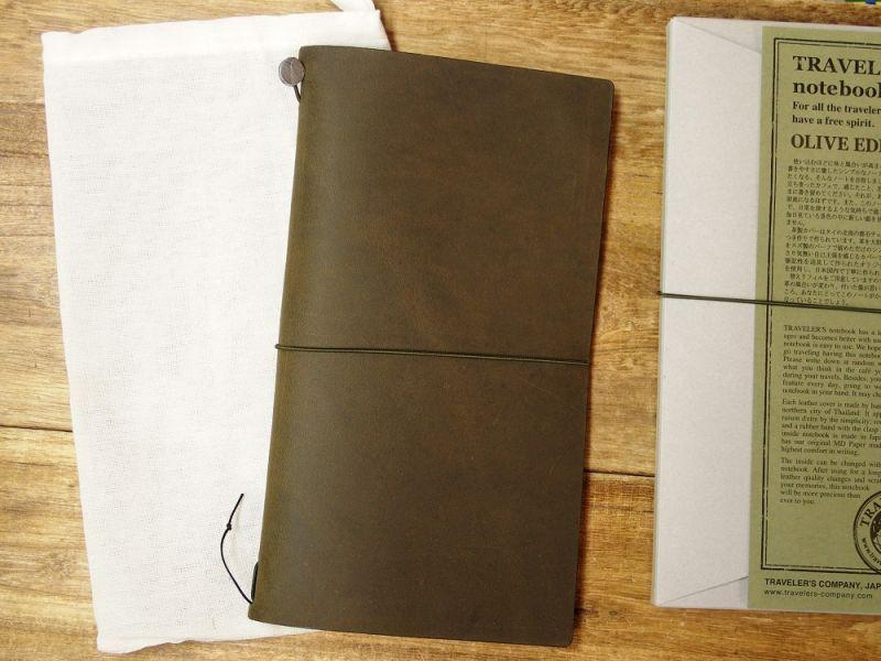 画像1: 【ネコポスOK】 TRAVELER'S notebook/トラベラーズノート オリーブエディション