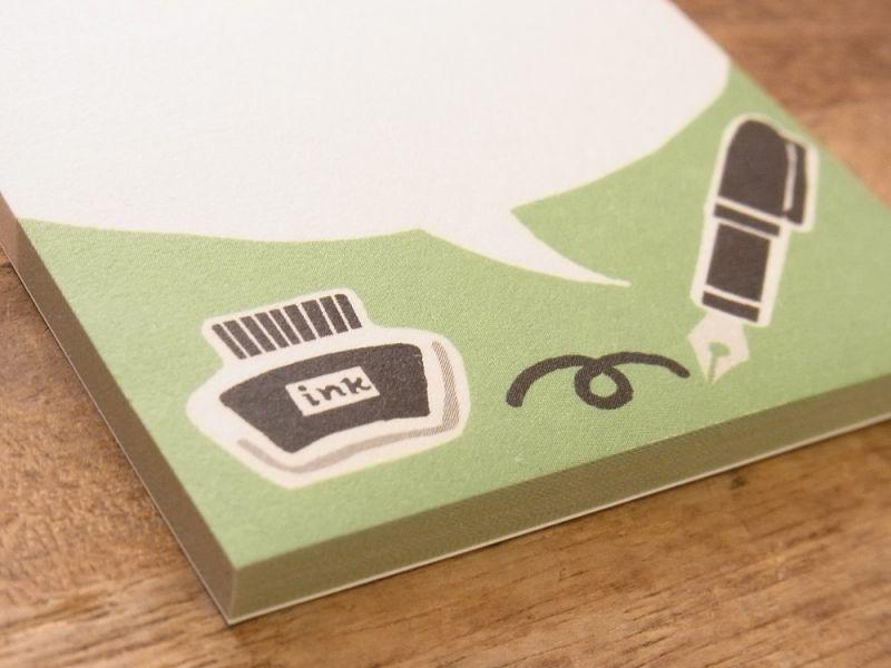 画像3: 【ネコポスOK】 みの和紙ふせん 気まま インクとペン