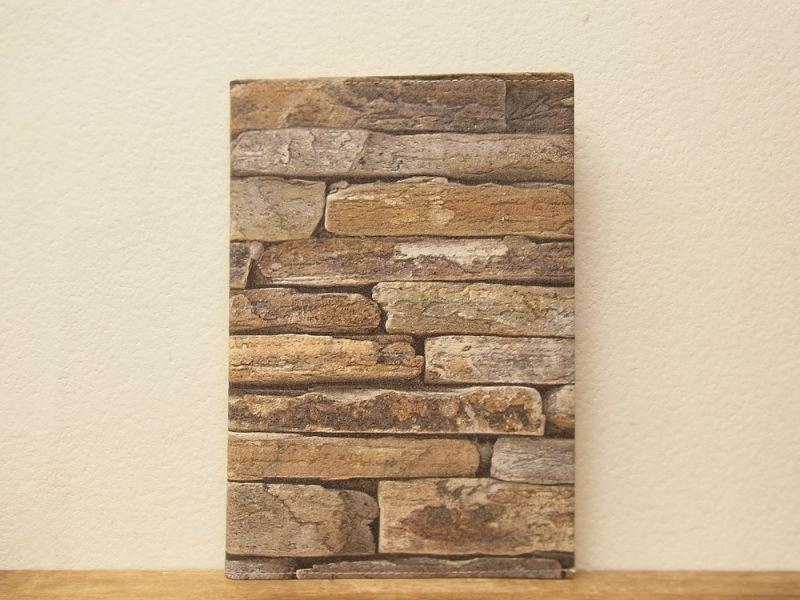 画像1: 【ネコポスOK】 Quaint Design/クイントデザイン GRAFICA DECORA BAMBOO NOTE A5 stone wall