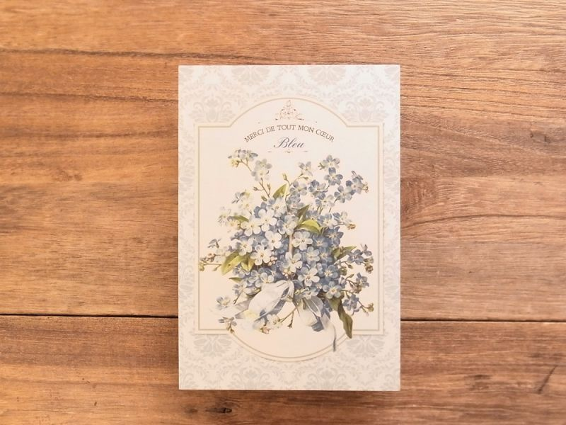 画像1: 【ネコポスOK】 東京アンティーク ポストカード ワスレナグサ