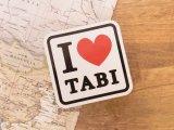 【ネコポスOK】 旅屋オリジナル ステッカー I LOVE TABI