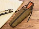 【ネコポスOK】 SLEEPING BAG SHAPE PEN CASE/スリーピングバッグ ペンケース グリーン