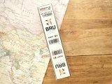 【ネコポスOK】 空港コードステッカー BRU/Brussels/ブリュッセル国際空港/Belgium