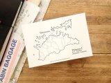 【ネコポスOK】 旅屋オリジナル 白地図ポストカード KAGAWA/香川