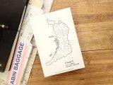 【ネコポスOK】 旅屋オリジナル 白地図ポストカード OSAKA/大阪