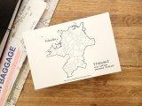 【ネコポスOK】 旅屋オリジナル 白地図ポストカード FUKUOKA/福岡