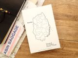 【ネコポスOK】 旅屋オリジナル 白地図ポストカード IWATE/岩手