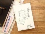 【ネコポスOK】 旅屋オリジナル 白地図ポストカード MIYAGI/宮城