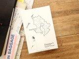 【ネコポスOK】 旅屋オリジナル 白地図ポストカード KAGOSHIMA/鹿児島