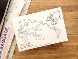 【ネコポスOK】 旅屋オリジナル 白地図ポストカード WORLD/世界