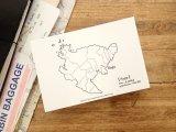 【ネコポスOK】 旅屋オリジナル 白地図ポストカード Saga/佐賀