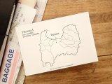 【ネコポスOK】 旅屋オリジナル 白地図ポストカード TOYAMA/富山