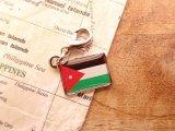 【ネコポスOK】 世界の国旗 チャーム [ヨルダン] 1個