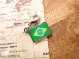 【ネコポスOK】 世界の国旗 チャーム [ブラジル] 1個