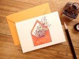 【ネコポスOK】 フランス G.LALO アンクル&プリュム カード封筒セット 封筒