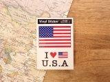 【ネコポスOK】 国旗ステッカー AMERICA/アメリカ