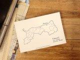 【ネコポスOK】 旅屋オリジナル 白地図ポストカード TOTTORI/鳥取