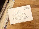 【ネコポスOK】 旅屋オリジナル 白地図ポストカード YAMAGUCHI/山口