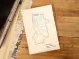 【ネコポスOK】 旅屋オリジナル 白地図ポストカード NARA/奈良