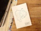 【ネコポスOK】 旅屋オリジナル 白地図ポストカード YAMANASHI/山梨