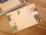 【ネコポスOK】 アメリカ CAVALLINI/カバリーニ Sticky Notes/付箋セット Succulents/多肉植物