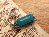 【ネコポスOK】 ドイツ HOHNER/ホーナー ハープキーホルダー ブルー
