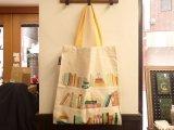 【ネコポス△】 アメリカ OUT OF PRINT トートバッグ Bookshelf