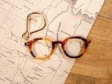 【ネコポスOK】 メガネキーリング キャメル