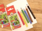 【ネコポスOK】 チェコ KOH-I-NOOR/ コヒノール ハーフサイズ色鉛筆セット 6色