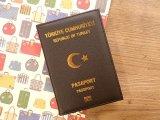 【ネコポスOK】 パスポートカバー REPUBLIC OF TURKEY