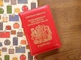 【ネコポスOK】 パスポートカバー IRELAND レッド