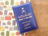 【ネコポスOK】 パスポートカバー KINGDOM OF SAUDI ARABIA ブルー