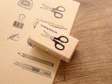 【ネコポスOK】 I love stamp series はさみ